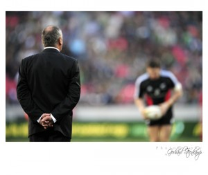 Graham Henry during the Tri Nations Test match between South Africa and New Zealand in Port Elizabeth on 20 Aug 2011.