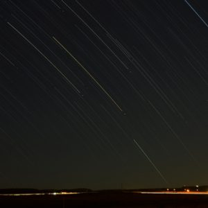 Star Trails with Bloemfontein set as a backdrop